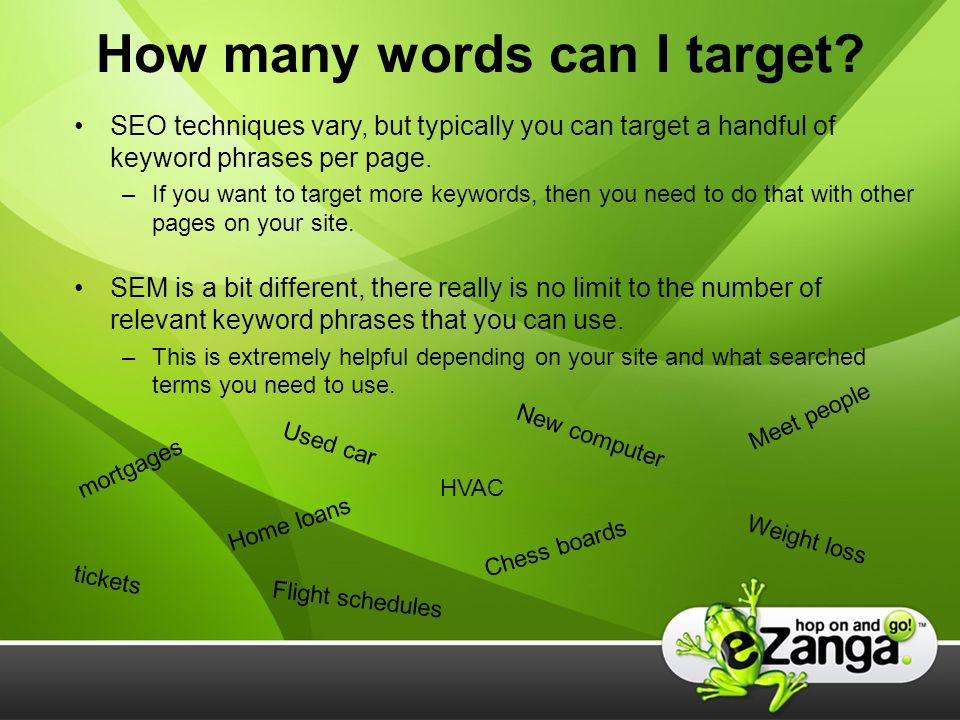 How many words can I target.