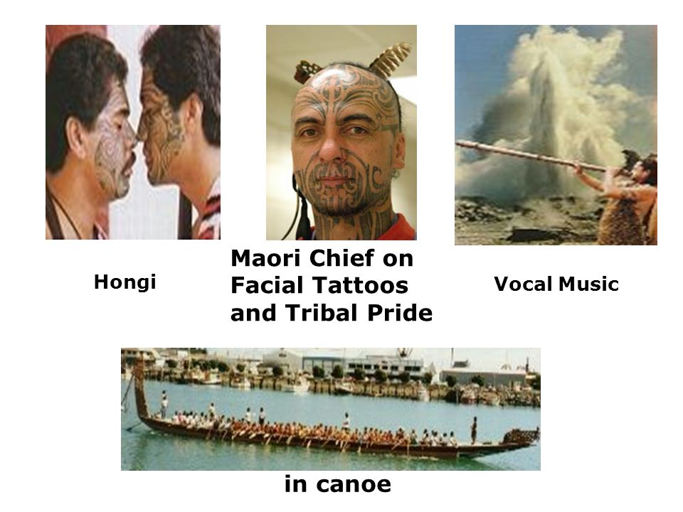 Vocal Music Maori Chief on Facial Tattoos and Tribal Pride in canoe Hongi
