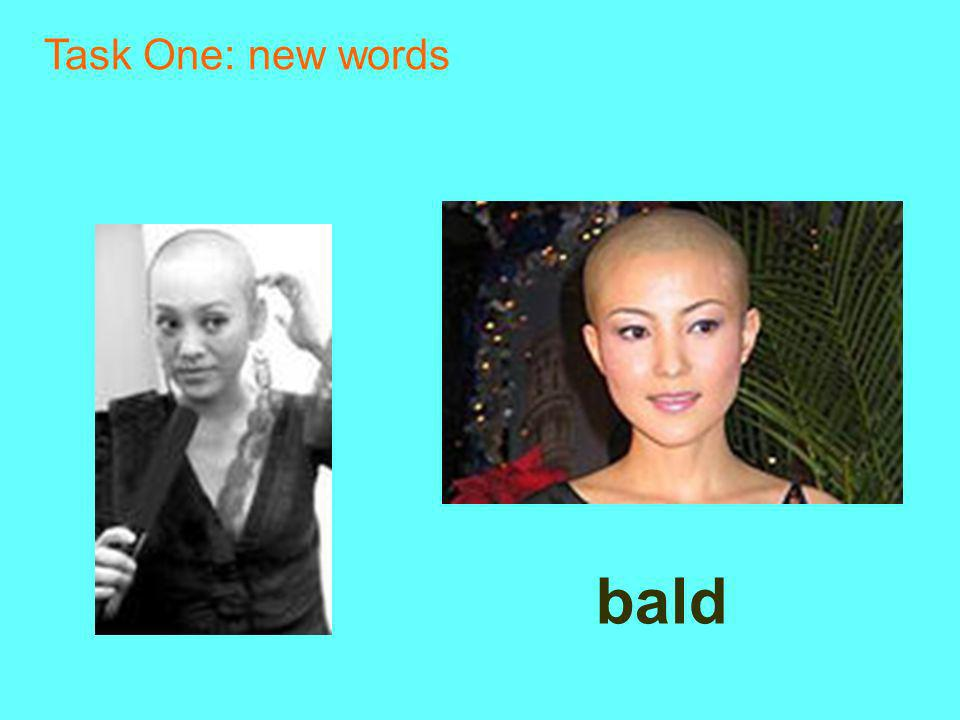 bald Task One: new words