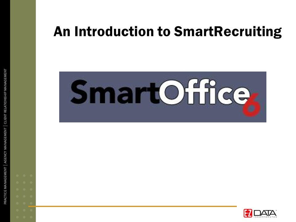 An Introduction to SmartRecruiting