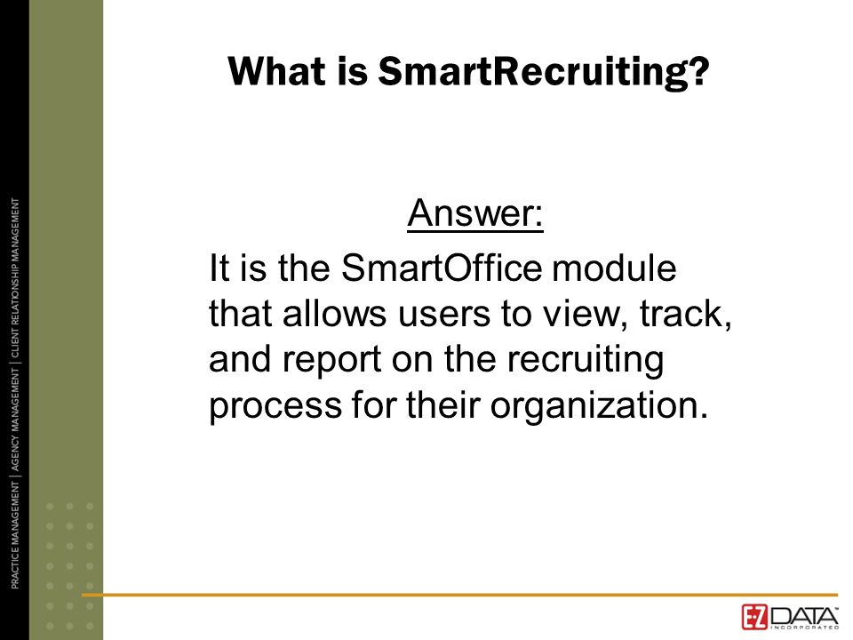 What is SmartRecruiting.