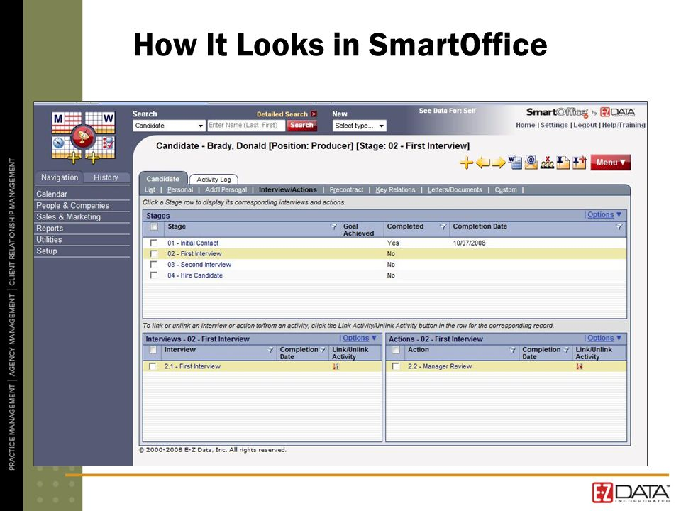 How It Looks in SmartOffice