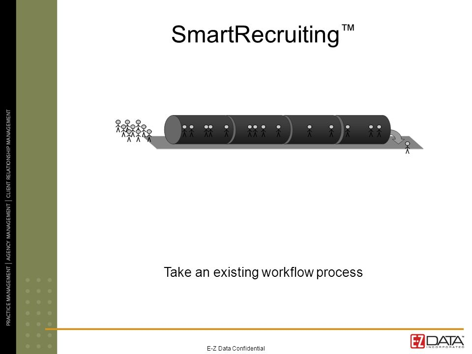 E-Z Data Confidential SmartRecruiting Take an existing workflow process
