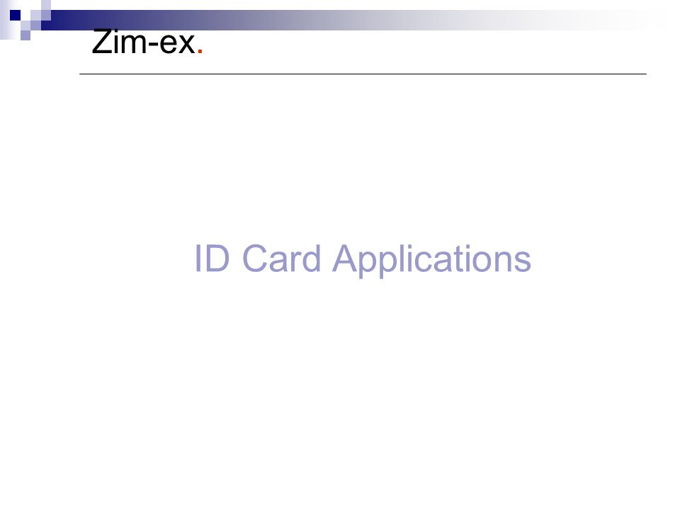 Zim-ex. ID Card Applications