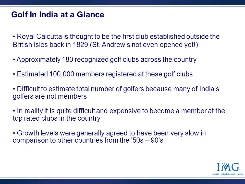 2 Royal Calcutta is thought to be the first club established outside the British Isles back in 1829 (St.
