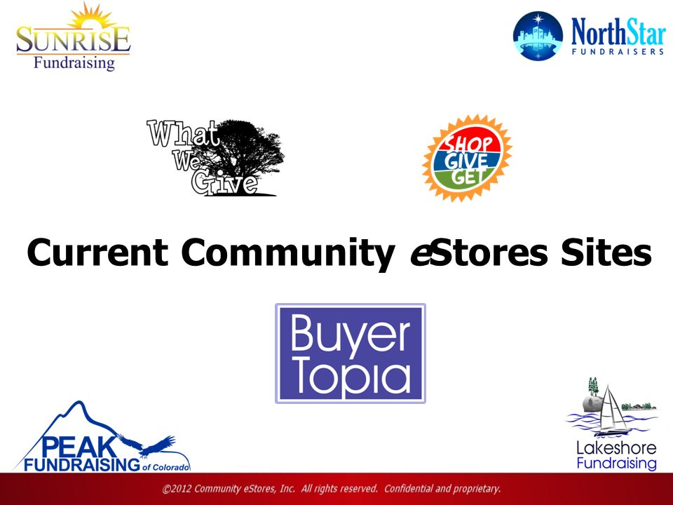Current Community eStores Sites