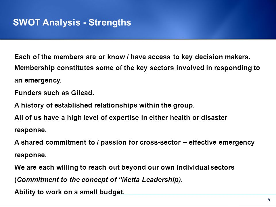 8 s SWOT Analysis Strengths Weaknesses Opportunities Threats Helpful Harmful Internal External