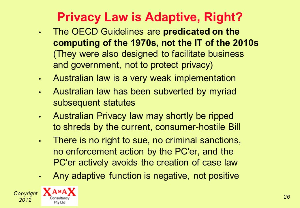 Copyright Privacy Law is Adaptive, Right.