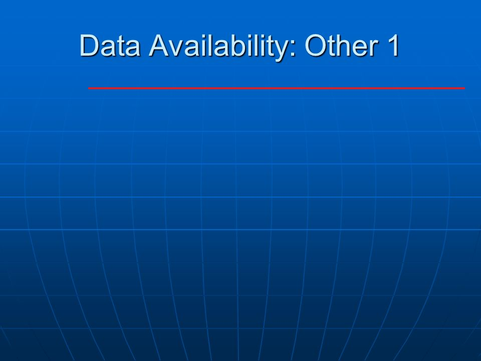 Data Availability: Other 1