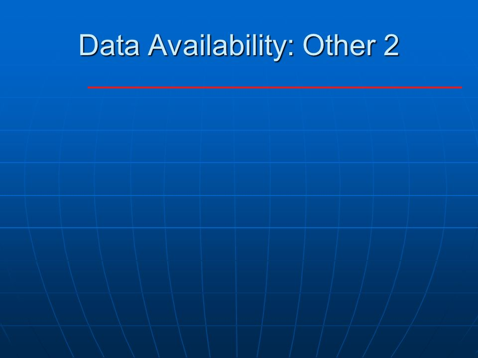 Data Availability: Other 2