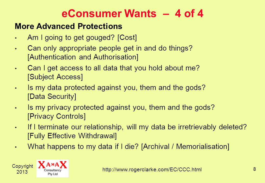 Copyright eConsumer Wants – 4 of 4 More Advanced Protections Am I going to get gouged.