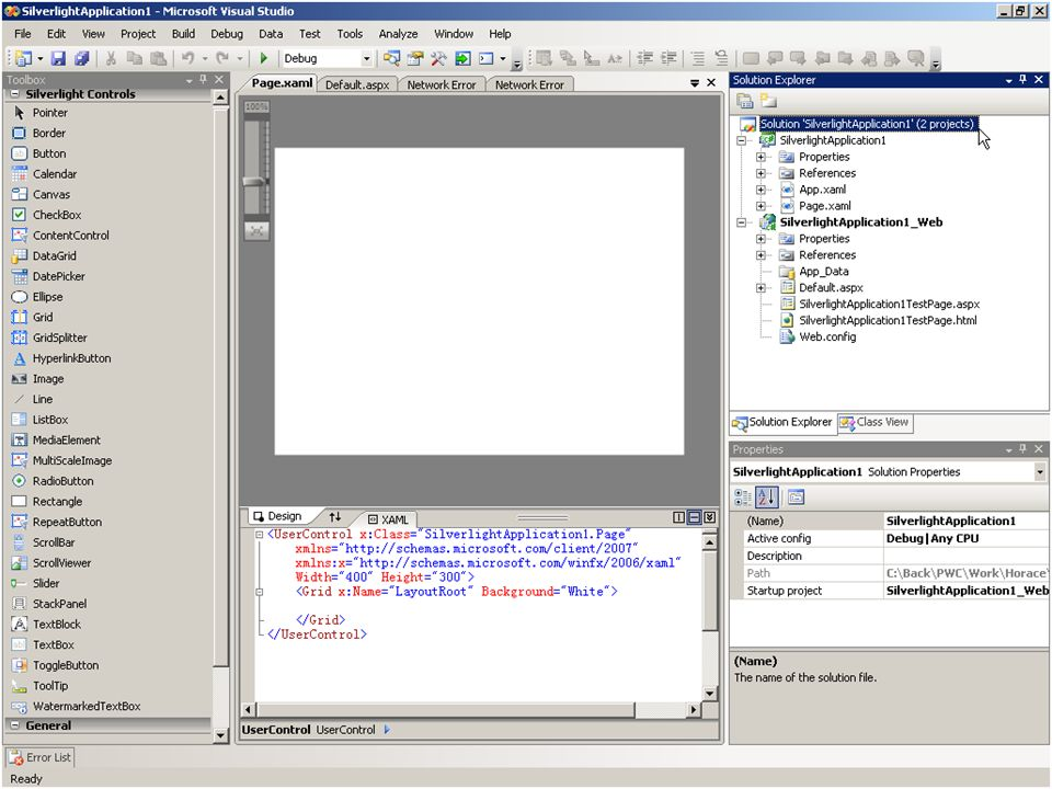 Visual Studio Sample : PWC