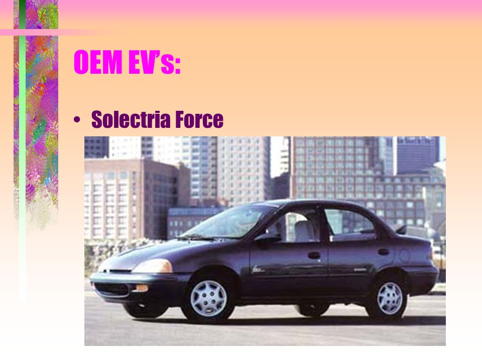 OEM EVs: Solectria Force