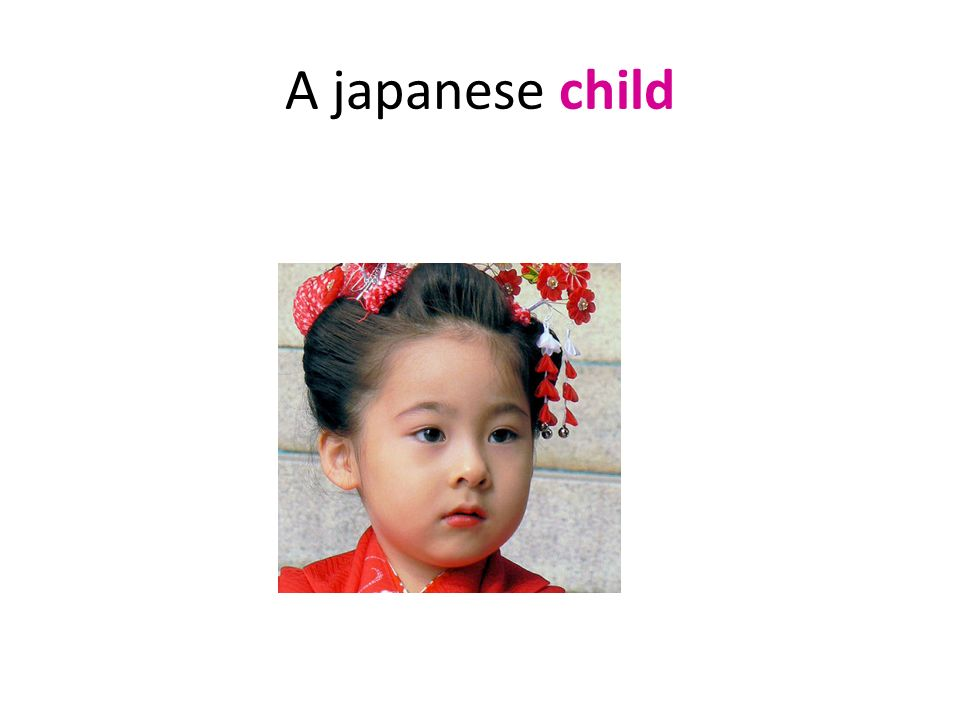A japanese child
