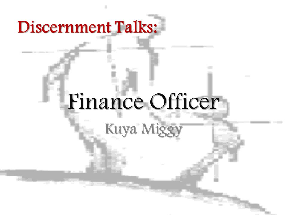 Finance Officer Kuya Miggy Discernment Talks: