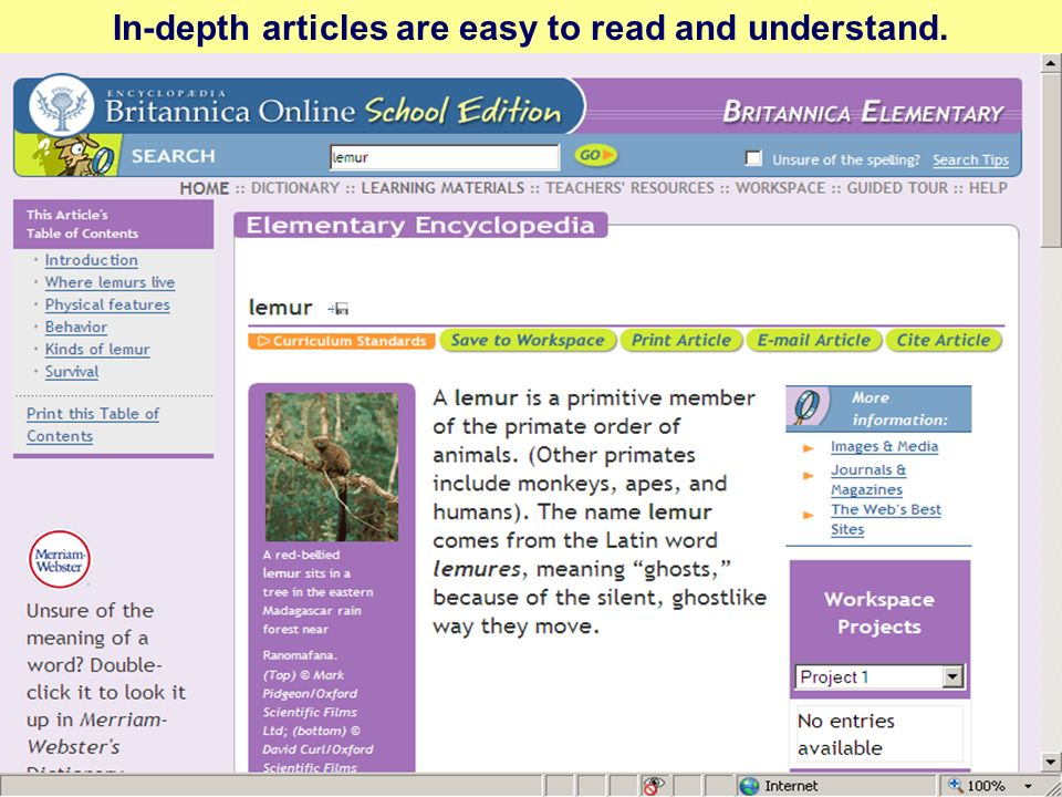 In-depth articles are easy to read and understand.