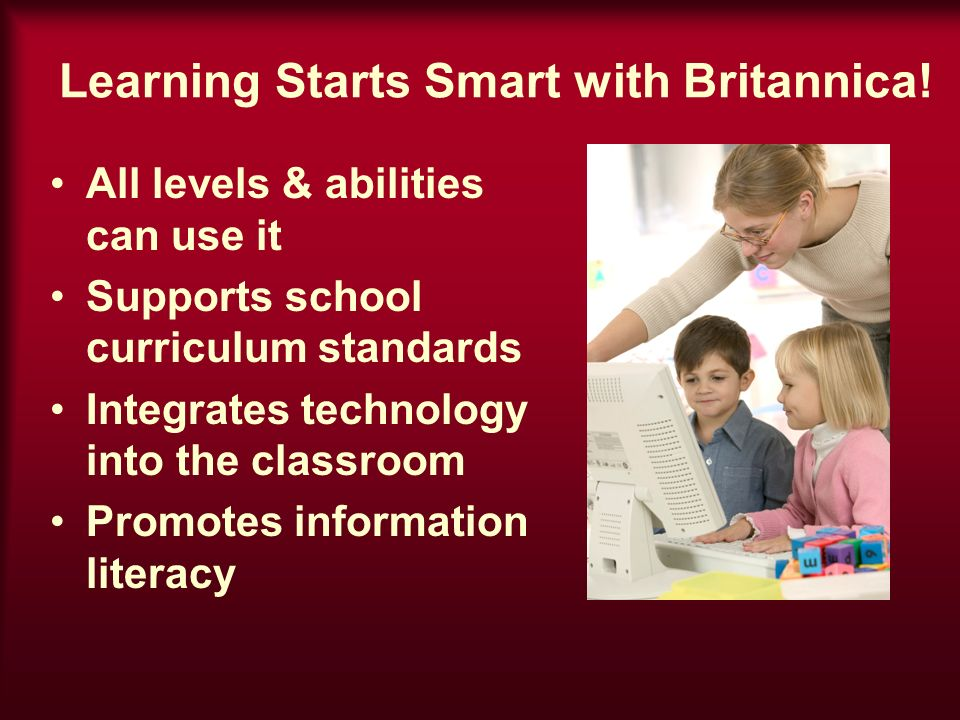 Learning Starts Smart with Britannica.