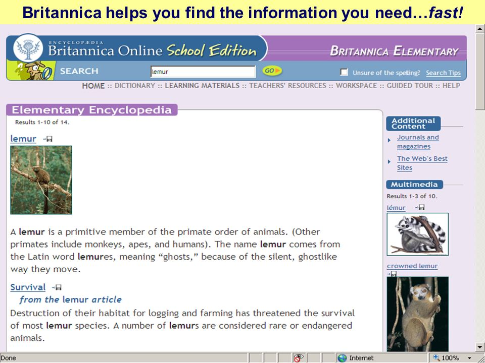Britannica helps you find the information you need…fast!