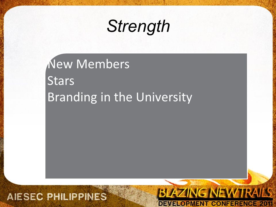 Strength New Members Stars Branding in the University