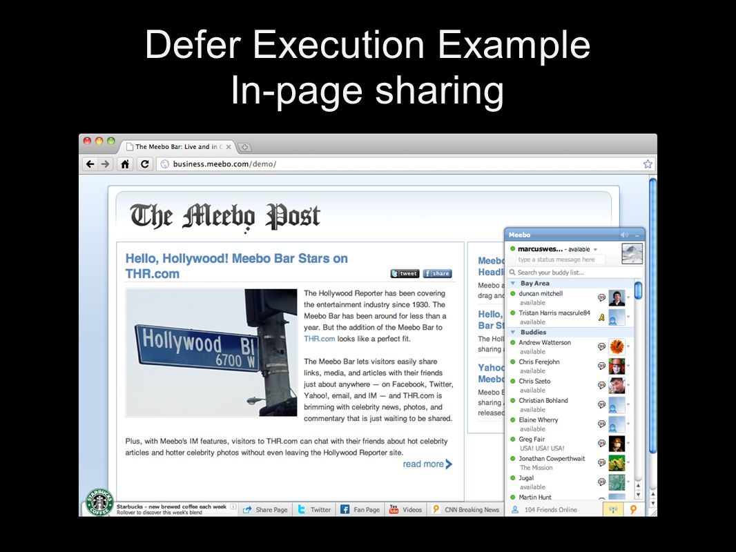 Defer Execution Example In-page sharing