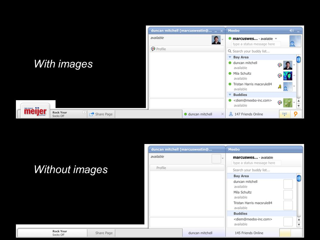 Without images With images