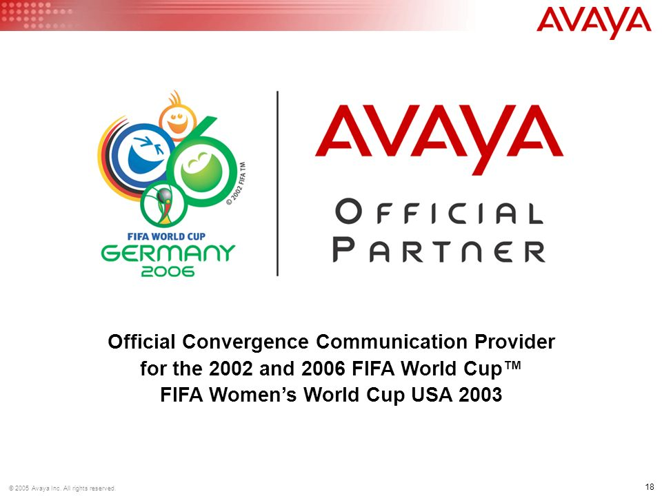 18 © 2005 Avaya Inc. All rights reserved.