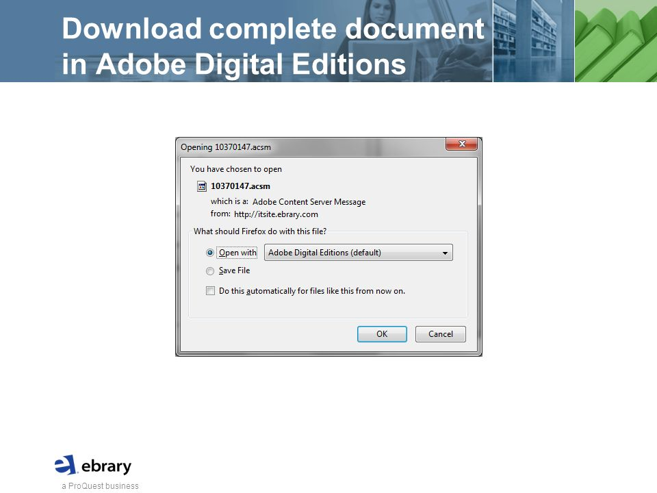 a ProQuest business Download complete document in Adobe Digital Editions