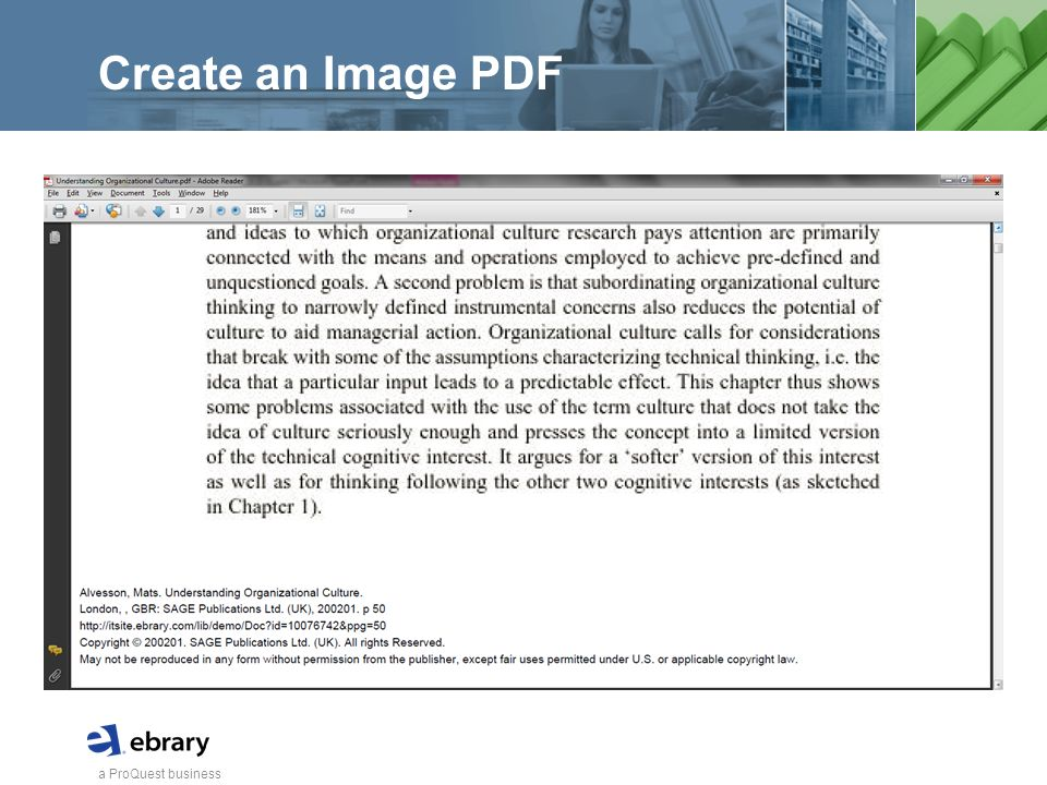 a ProQuest business Create an Image PDF