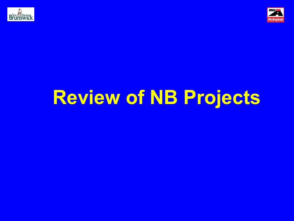 Review of NB Projects