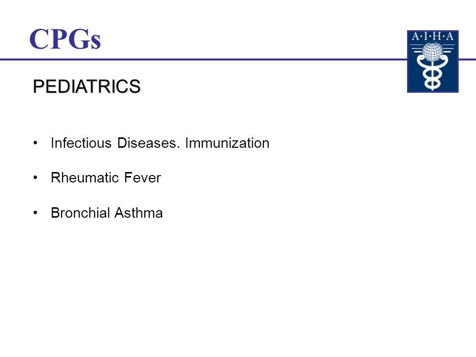 General Practice Hypertension Gastric and Duodenal Ulcer Bronchial Asthma CPGs