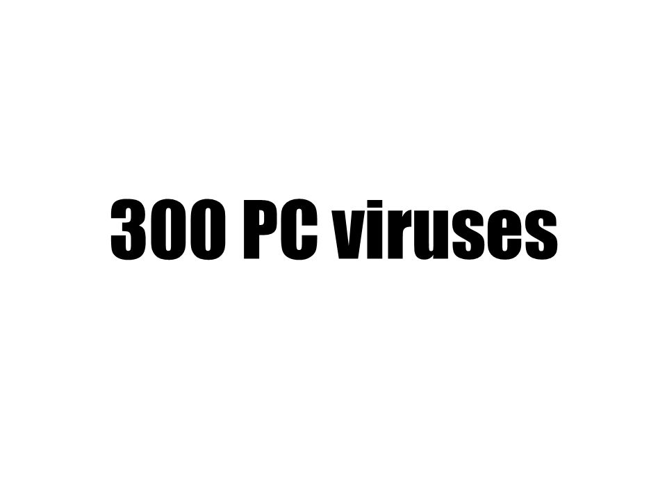 300 PC viruses