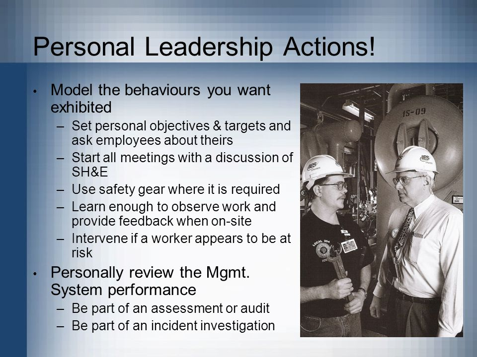 Personal Leadership Actions.