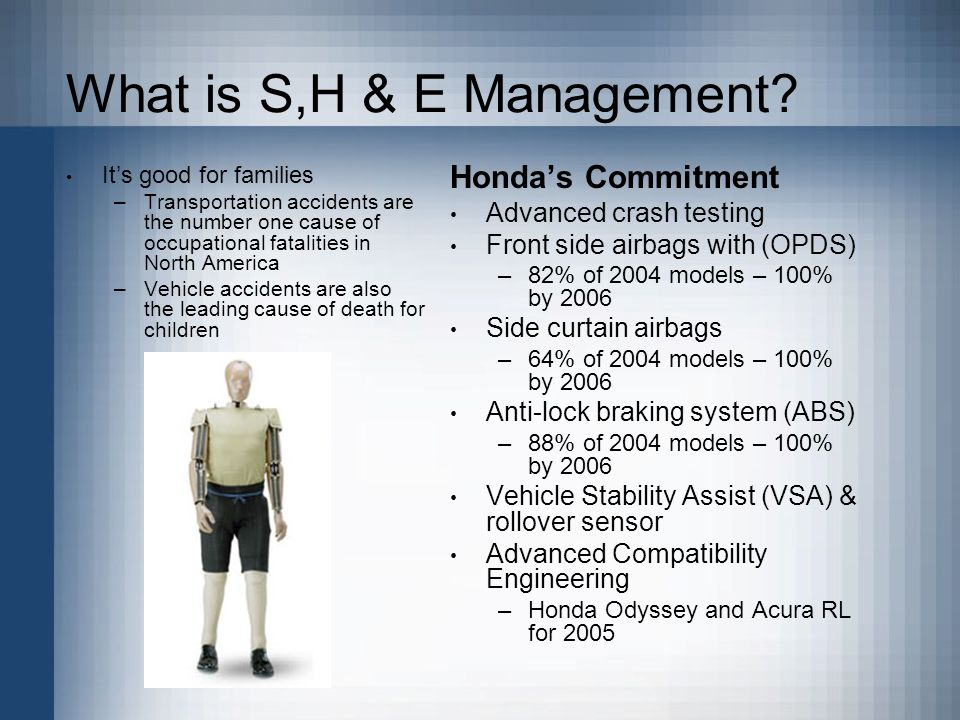 What is S,H & E Management.
