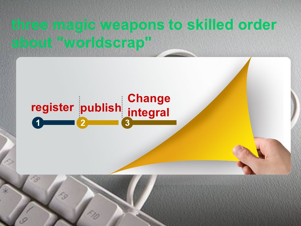 WorldScrap three magic weapons to skilled order about worldscrap register publish Change integral 123