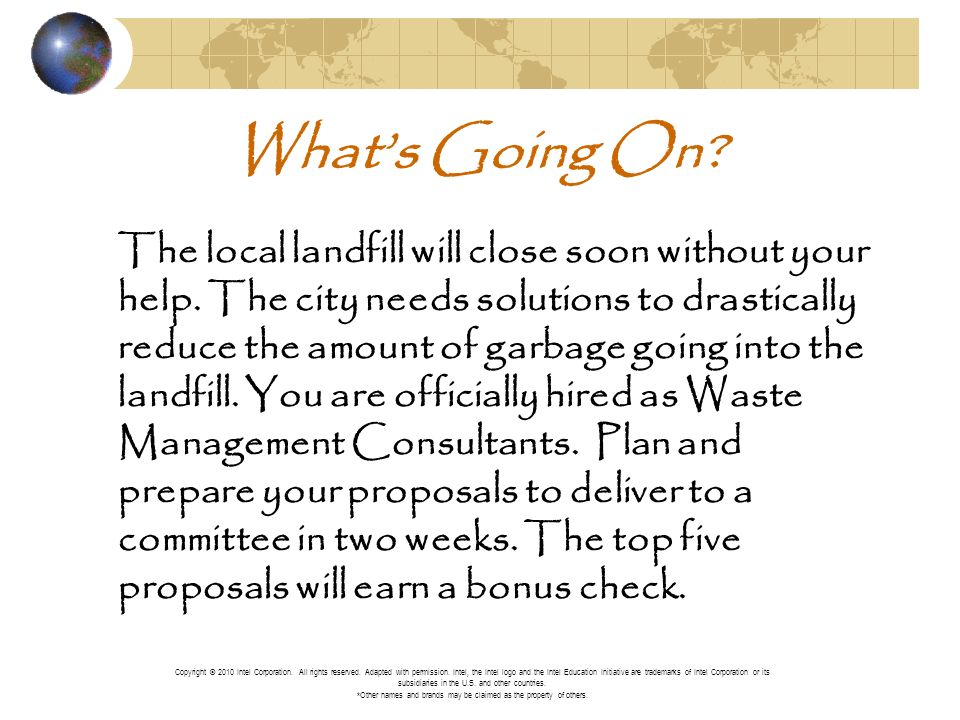 Whats Going On. The local landfill will close soon without your help.