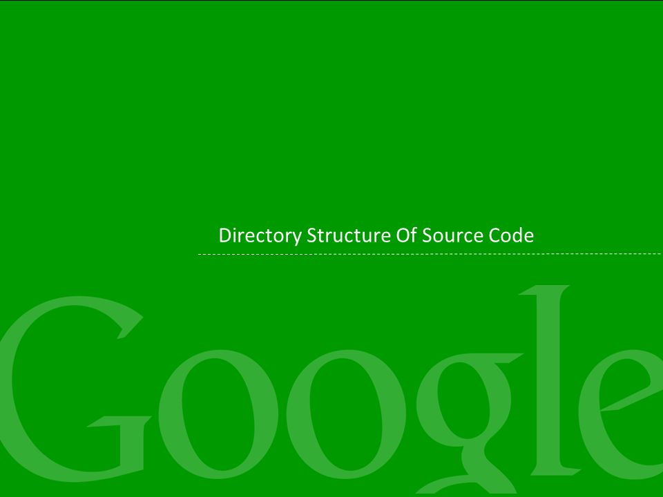Directory Structure Of Source Code