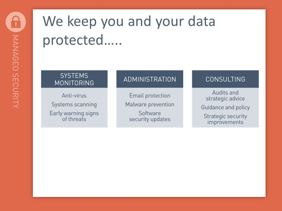 We keep you and your data protected…..