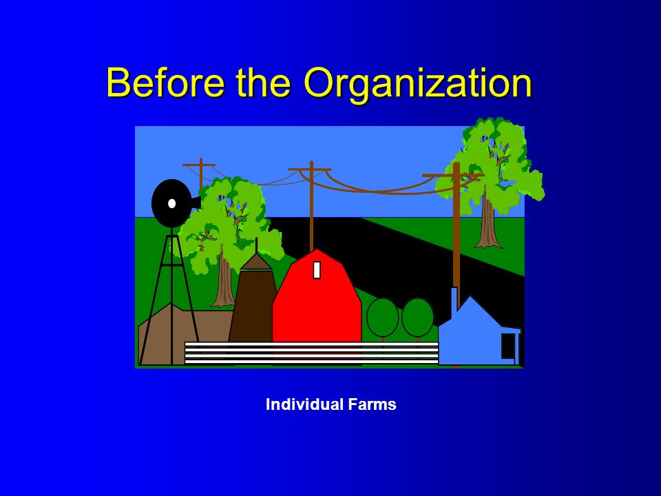 Before the Organization Individual Farms