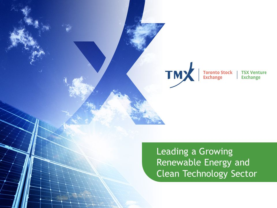 Leading a Growing Renewable Energy and Clean Technology Sector 12