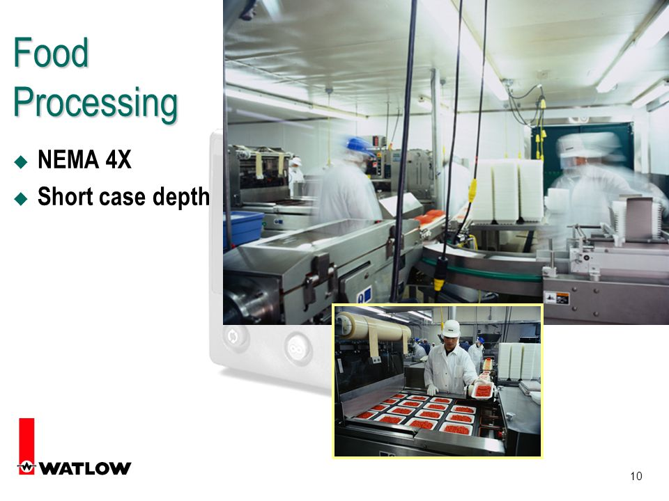 10 Food Processing u NEMA 4X u Short case depth