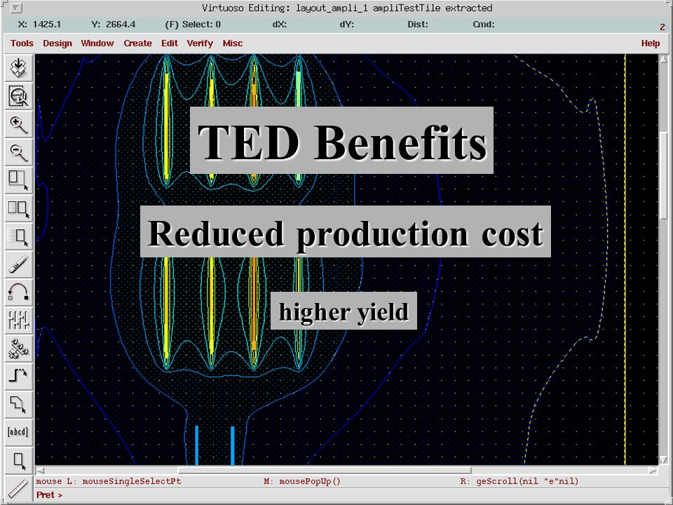Reduced production cost higher yield