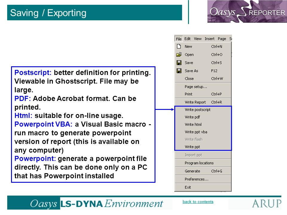 back to contents Saving / Exporting Postscript: better definition for printing.