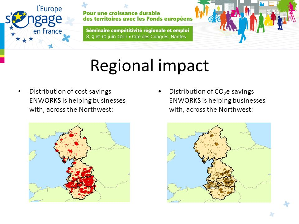 Regional impact Distribution of cost savings ENWORKS is helping businesses with, across the Northwest: Distribution of CO 2 e savings ENWORKS is helping businesses with, across the Northwest: