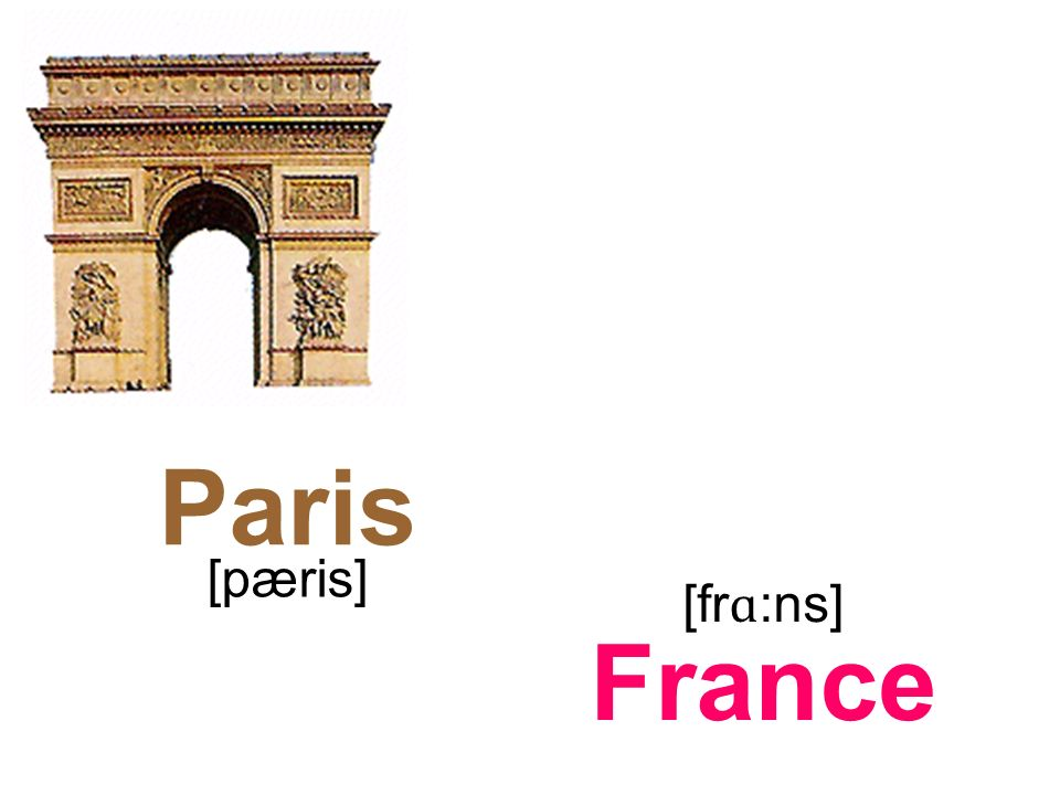 Paris France [pæris] [fr ɑ :ns]