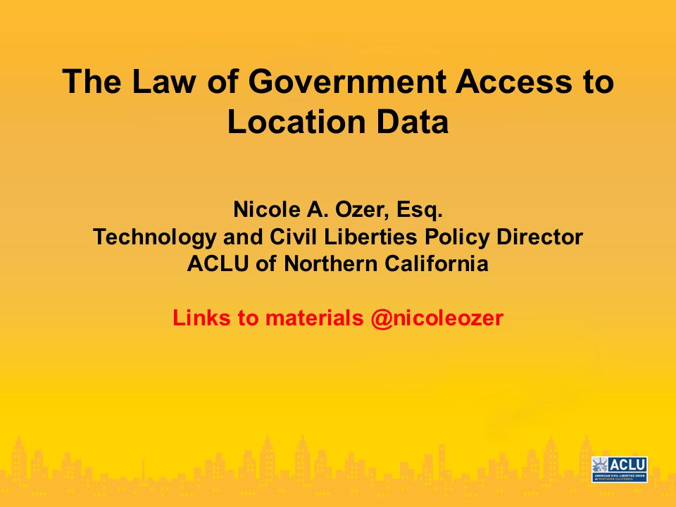 The Law of Government Access to Location Data Nicole A.