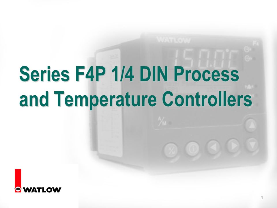 1 Series F4P 1/4 DIN Process and Temperature Controllers