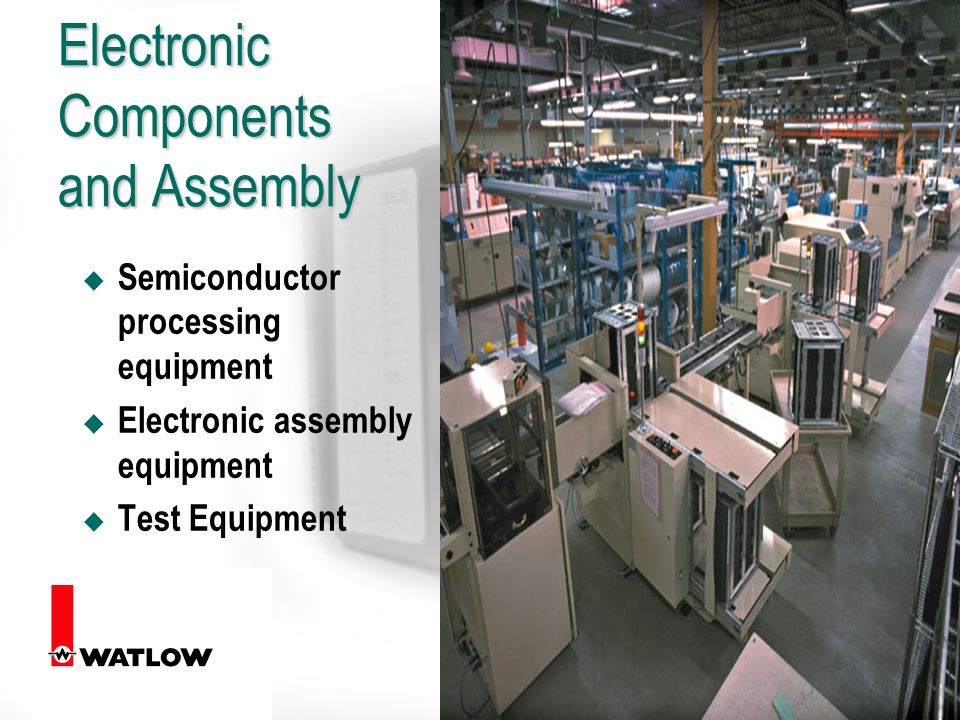 6 Electronic Components and Assembly u Semiconductor processing equipment u Electronic assembly equipment u Test Equipment