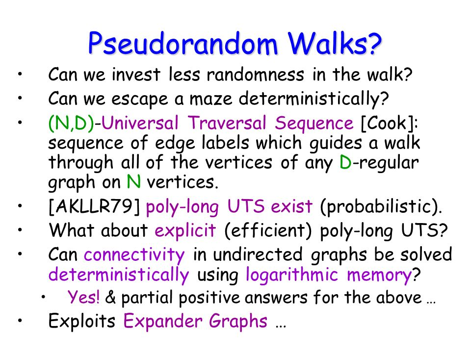 Pseudorandom Walks. Can we invest less randomness in the walk.