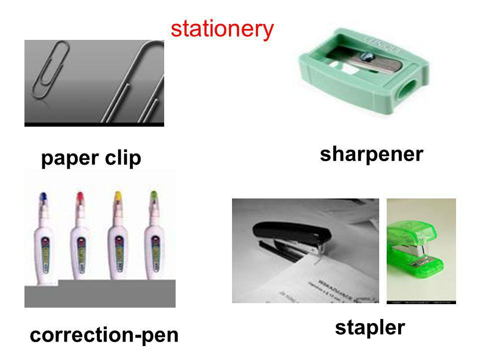stationery paper clip sharpener correction-pen stapler