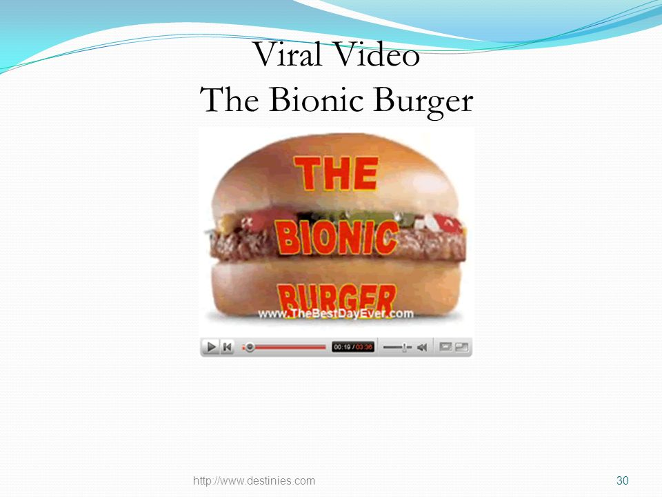 Viral Video The Bionic Burger